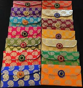 Brocade Silk Shagun Salami Wedding Gift Money Envelopes-Indian Wedding Accessory