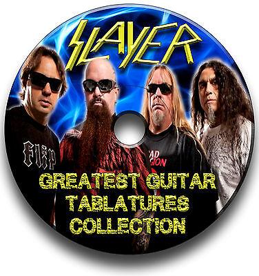 SLAYER THRASH HEAVY METAL ROCK GUITAR TAB TABLATURE SONG BOOK SOFTWARE (Metal Guitar Tab Book)