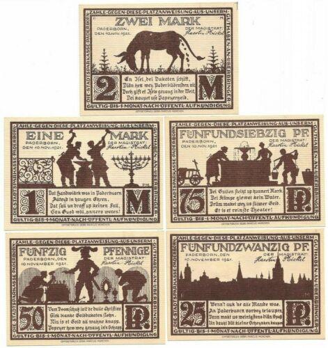 **1921 PADERBORN Germany- DONKEY MONEY ~ Complete Series