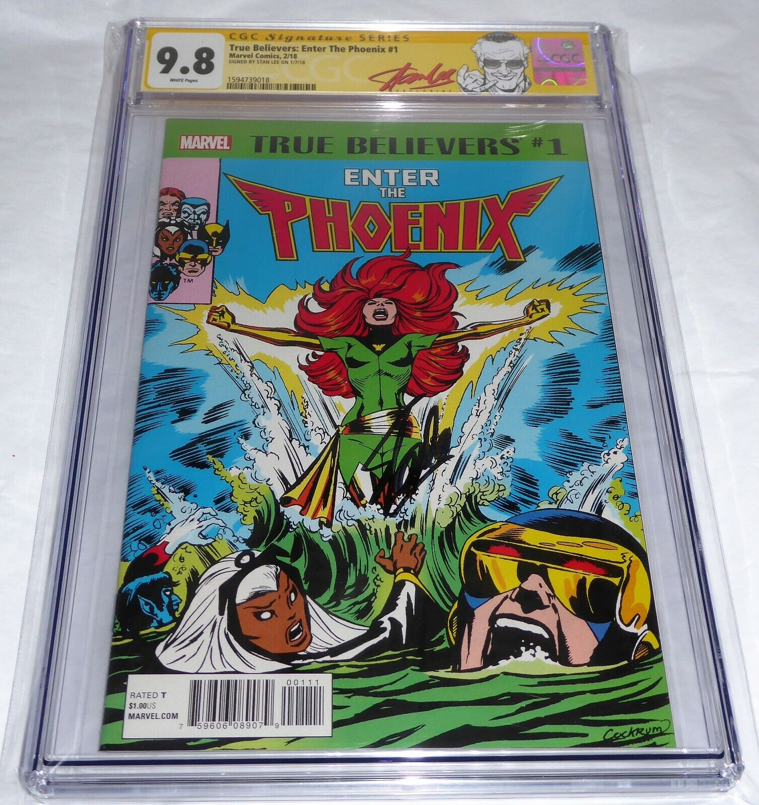 True Believers Reprint Enter the Phoenix #1 CGC SS 9.8 Signature Signed STAN LEE