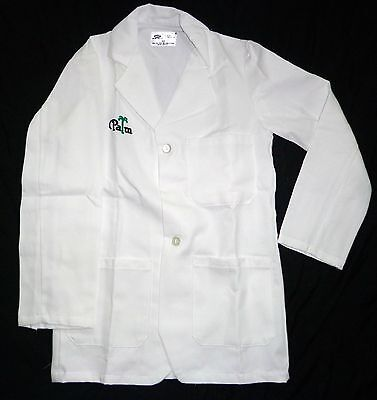 Best Medical Unisex L/S Lab Coat 3 Pocket Palm Embroidery White Size Small (Best White Lab Coats)