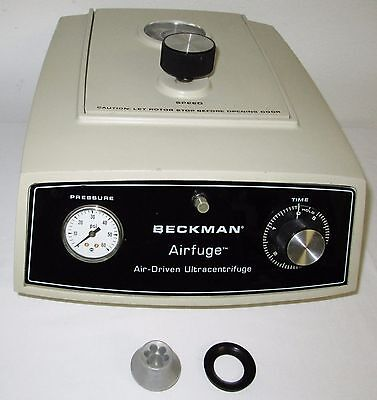 Beckman Airfuge Centrifuge 6-place Rotor - Tested Spins 97000 Rpm 30 Psi
