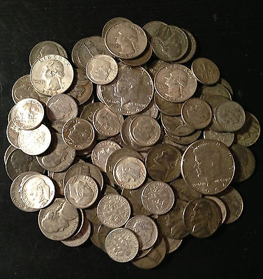 Click now to see the BUY IT NOW Price!  INFLATION COMING US JUNK SILVER COINS 100  LB 1600 OZ. PRE65 ONE 1