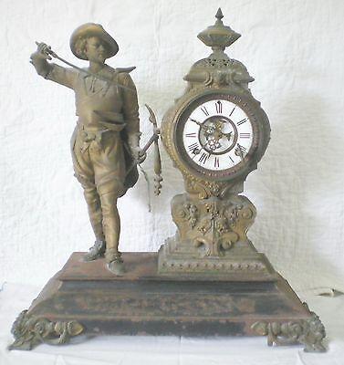 Ansonia Don Caesar Mantle Clock 1800's With Two Original Winding Keys