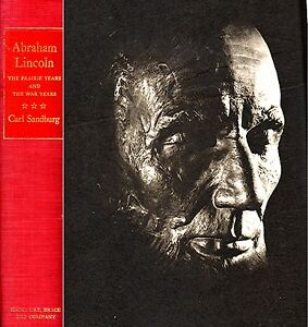 ABRAHAM-LINCOLN-THE-PRAIRIE-and-WAR-YEARS-by-SANDBURG-1954-762-PAGE-HARD-COVER