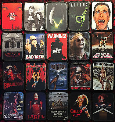 Horror Movie Patches Punk Rock Metal Rockabilly Psychobilly Goth