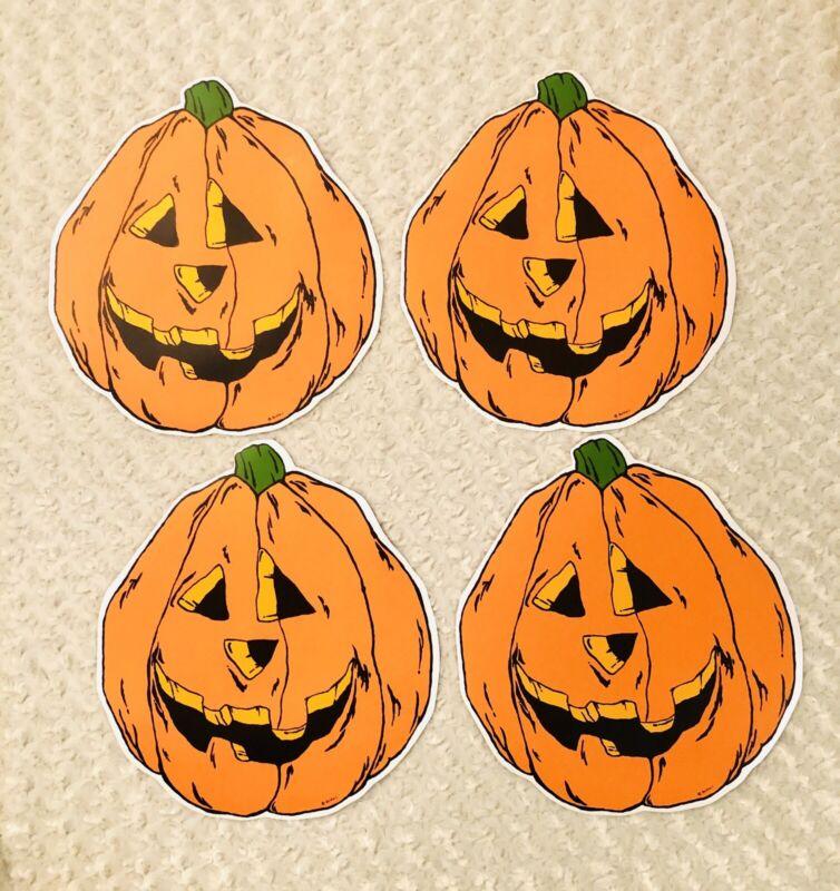 "Vtg Halloween Jack-O-Lanterns Pumpkins 15""X14"" Set Of Four Placemats New!"