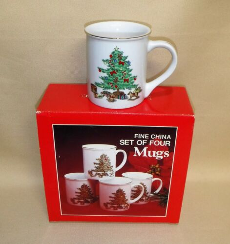 Holiday Hostess  ~ 4 pc Mugs ~ NIB