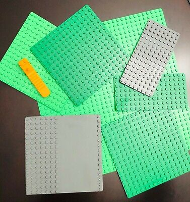 Lego Base Plates 32x32 16x16 8x16 with Separator Preowned Good Condition