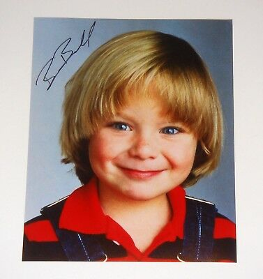 Tv Show Family Ties Brian Bonsall Signed 8X10 Color Photo Coa Free Shipping