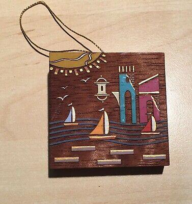 """Puerto Rico El Morro Sailboats 2.5"""" x 2.5"""" Lesodi Shop Artisan Exc Art Hanging"""