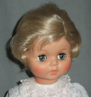DOLL WIG Size 14: Med. Blonde  BETH STYLE Short Wavy, Side Part BOY or - 14 Doll Wig