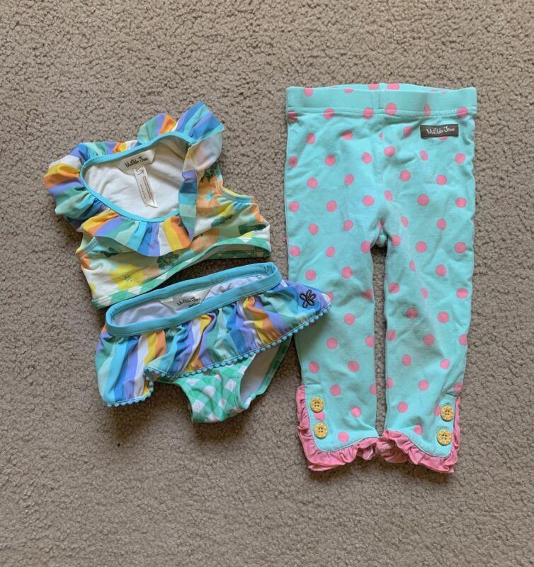 Matilda Jane Baby Girl To The Luau Swimsuit Sz 18/24 Months Lot W/ Pants 18-24