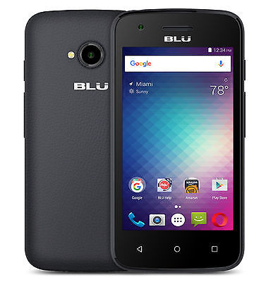 BLU Dash L2 D250U Unlocked GSM Quad-Core Android v6.0 Smartphone - Black