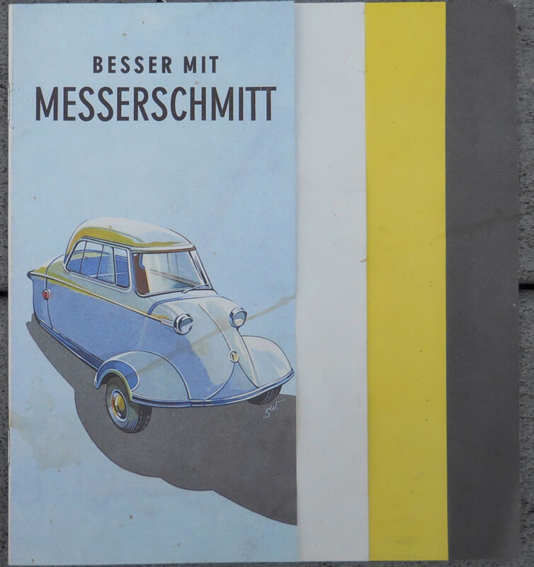 MESSERSCHMITT KR2OO brochure - 1990 reprint Messerschmitt club Germany