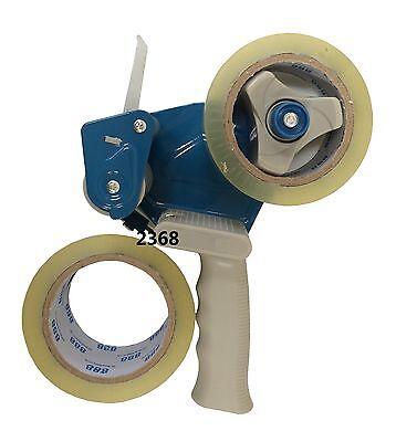 2 Inch Packaging Cutter Tape Gun Blue 2 Rolls Tape
