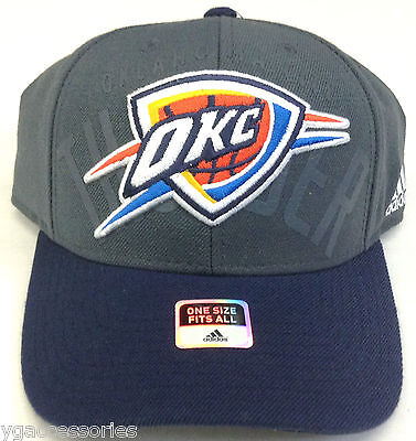 online store e6170 690aa NBA Oklahoma City Thunder Adidas Adult Structured Adjustable Fit Cap Hat NEW !!