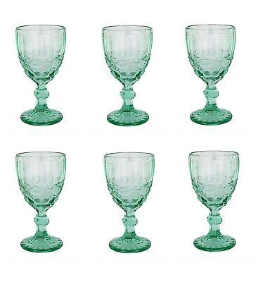 leife turkis Glas Gläser Weingläser Sektglas Wasserglas  (Türkis Gläser)