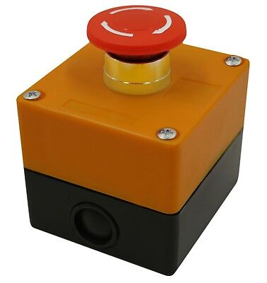 Emergency Stop Button Switch Red 22mm 78 With 1-hole Switch Box Stop Button