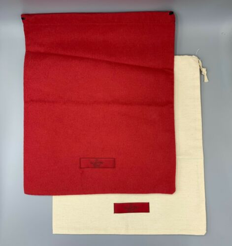 """NEW VALENTINO GARAVANI 2 Full Size Shoe Dust Bags 11.5""""x14"""" for 2 Pairs of Shoes"""