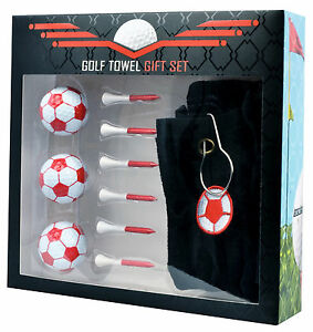 longridge geschenk set fussball rot handtuch b lle tees neu. Black Bedroom Furniture Sets. Home Design Ideas