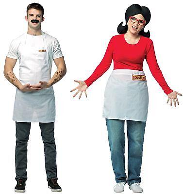 Coppia Costumi Caschetto e Linda Adulto Bob's Burgers Halloween Marito Moglie