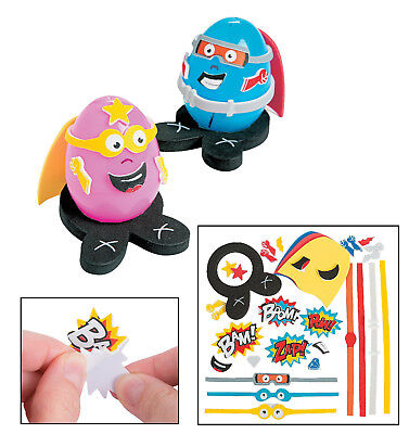 DIY  Superhero Easter Egg Decorating Craft Kit - Makes 12 - Superhero Easter Eggs