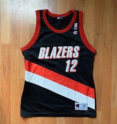 Vintage Champion NBA Portland Trailblazers Detlef Schrempf Jersey Size 40 Medium