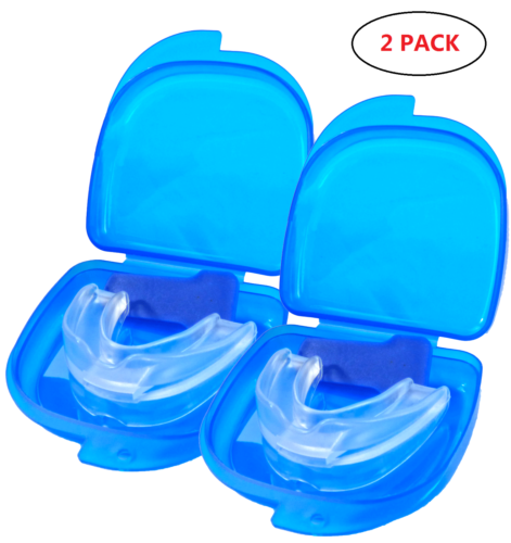 2PCS Stop Snoring Mouthpiece Guard Anti Snore Sleep Bruxism Apnea Teeth Grinding Health & Beauty