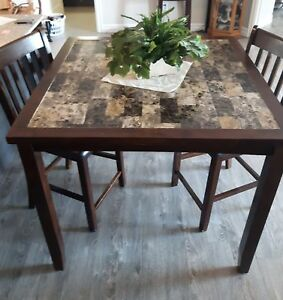 ** Lowered**Pub style table with 2 chairs