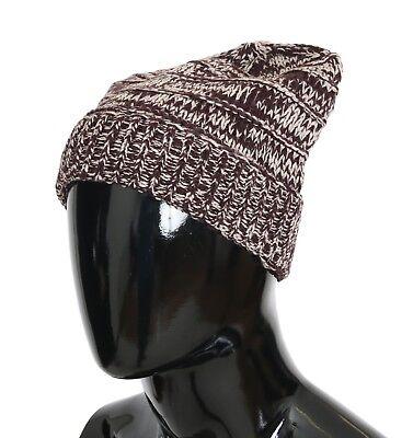 DOLCE & GABBANA Hat Beanie Wool Red White Winter Warm Mens One Size RRP $240