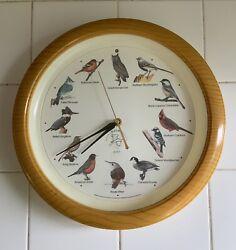 National Audubon Society Singing Bird Clock *Tested, Works*