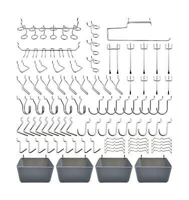 Peg Board Hooks Accessories Pegboard Bins Organizer For Garage 120pcs Parts Tool