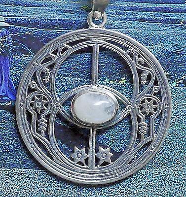 Peter Stone Chalice Well Anhänger Avalon Symbol Heilquelle 925 Silber Mondstein