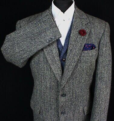 Harris Tweed Blazer Jacket Grey 44R AMAZING QUALITY 2928