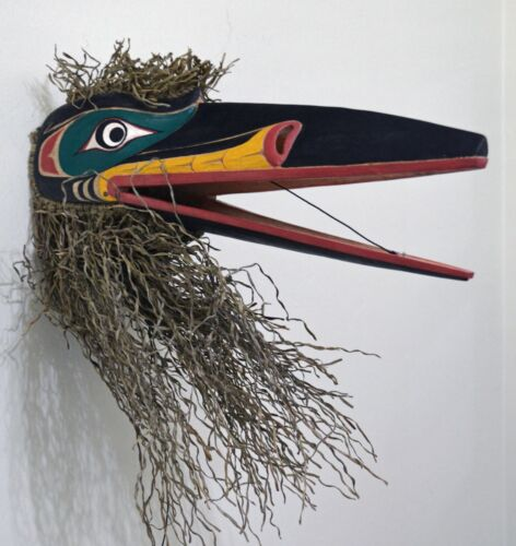LARGE FIRST NATION STYLE ARTICULATING RAVEN MASK ~ EXCELLENT CONDITION
