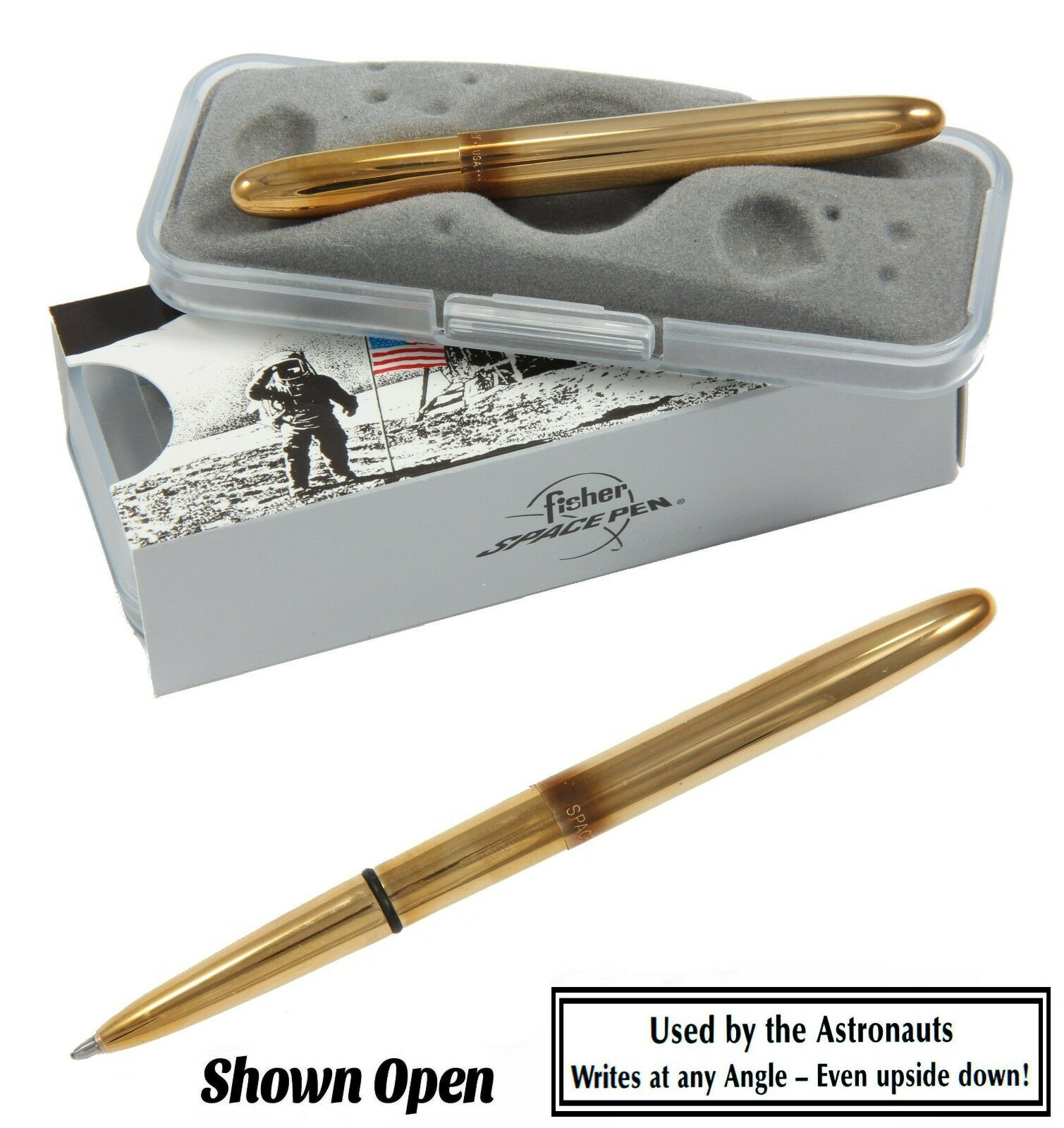 Fisher Space Pen 400-RAW Medium Point Raw Brass Bullet Pen Black Ink