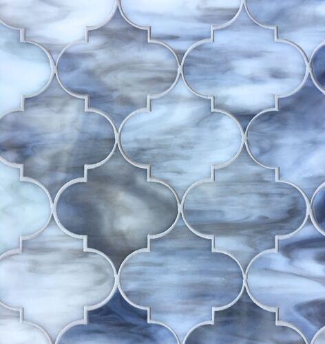 Arabesque Grey 11.5X13 Glass Tile Mosaic Shower Wall Backsplash Lantern Decor