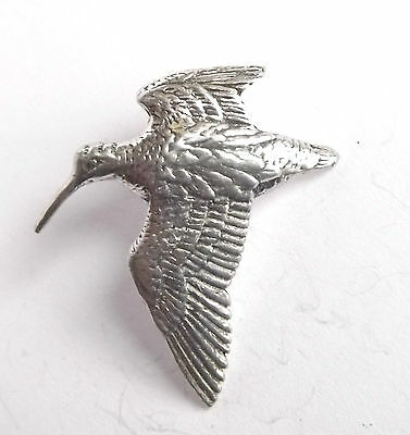 """WOODCOCK """"Birds, Animals & Nature"""" Hand Made in UK Pewter Lapel Pin Badge"""