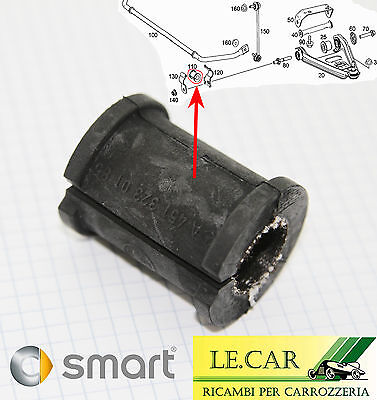 SUPPORTO IN GOMMA BARRA DI TORSIONE ANTERIORE SMART FORTWO 451 7/2007 > 10/2014