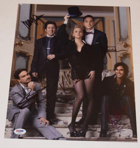 The Big Bang Theory Cast Signed 11x14 Photo x5 Jim Parsons Kaley Cuoco PSA COA