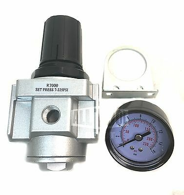 12 Air Compressor Regulator With Free 300 Psi Pressure Gauge