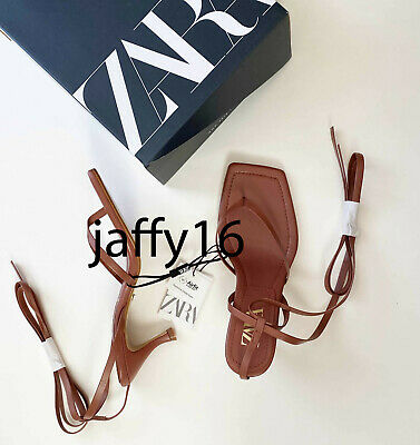 ZARA NEW LEATHER HIGH-HEEL SANDALS WITH SQUARE TOES DARK PINK 35-42 2354/510