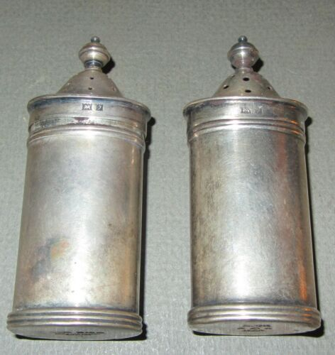 Tiffany & Co. sterling silver salt & pepper shakers, England, very very RARE