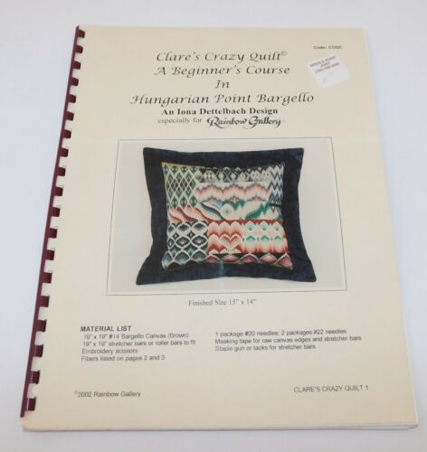 Hungarian Point Bargello Iona Dettelbach Rainbow Gallery Course pattern 2002
