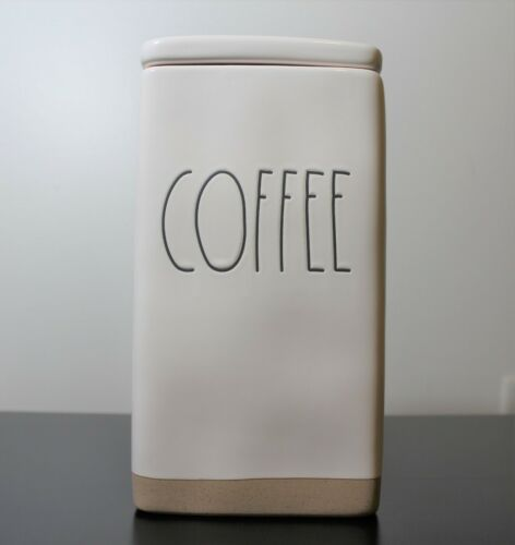 Rae Dunn Large Letter COFFEE Square Canister with Lid