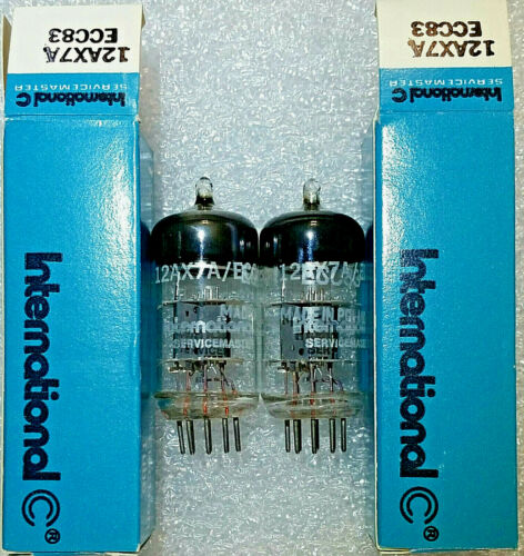 3 Matched Pairs 12AX7A/ECC83 IC Servicemaster NOS Tubes