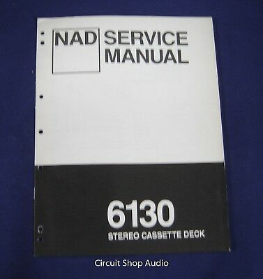 Original NAD 6130 Stereo Cassette Deck Service Manual for sale  Shipping to Canada