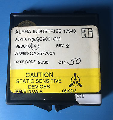 Sc9001om Alpha Industries Capacitor Chip Rf Microwave 50units