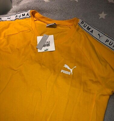 puma t shirt women size m citrus tee